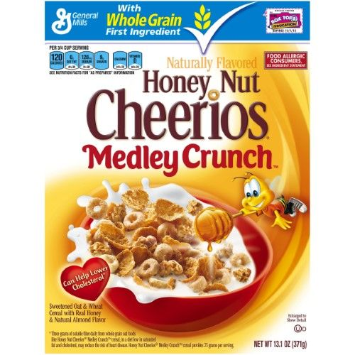 Honey Nut Cheerios Cereal, Medley Crunch, 13.1 Oz