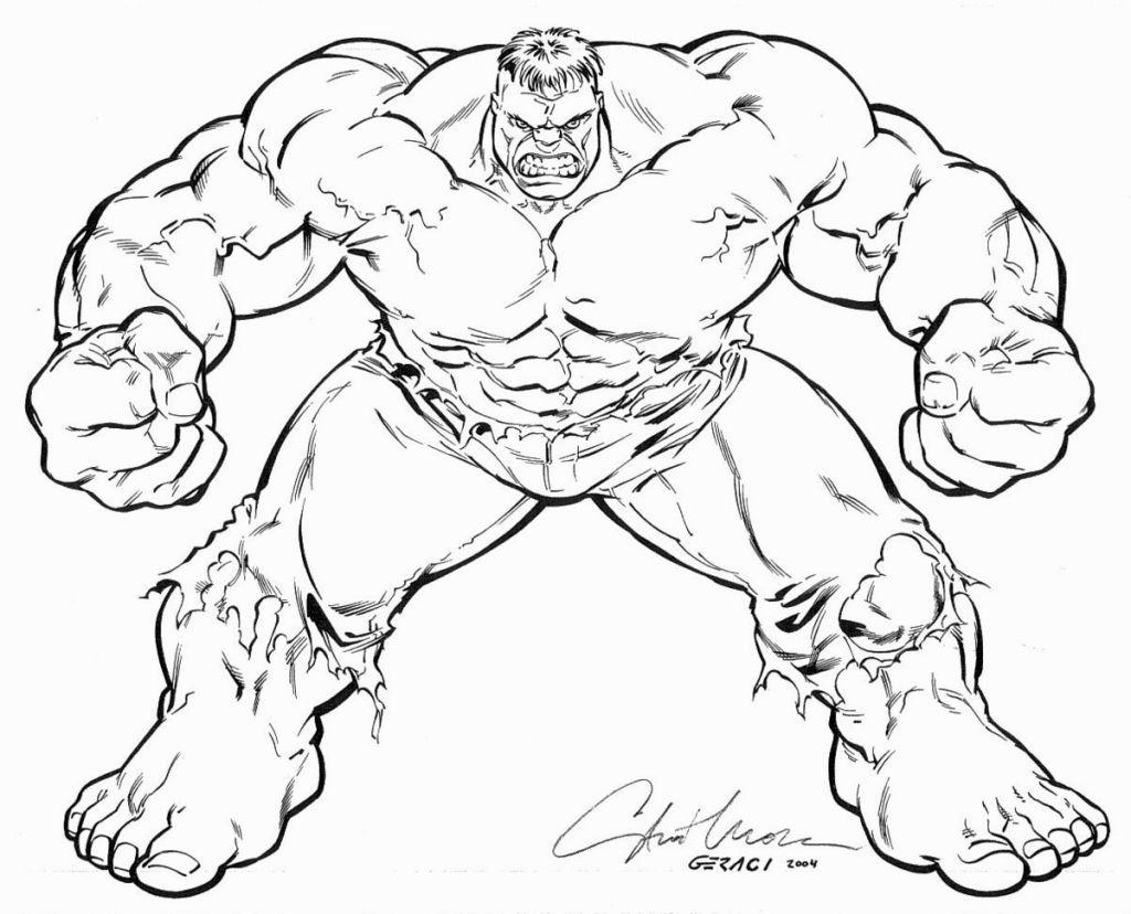 Hulk Coloring Page Gambar