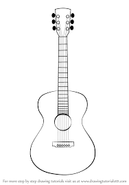 Image Result For Outline Drawing Of Guitar Guitar Drawing Guitar Sketch Easy Drawings