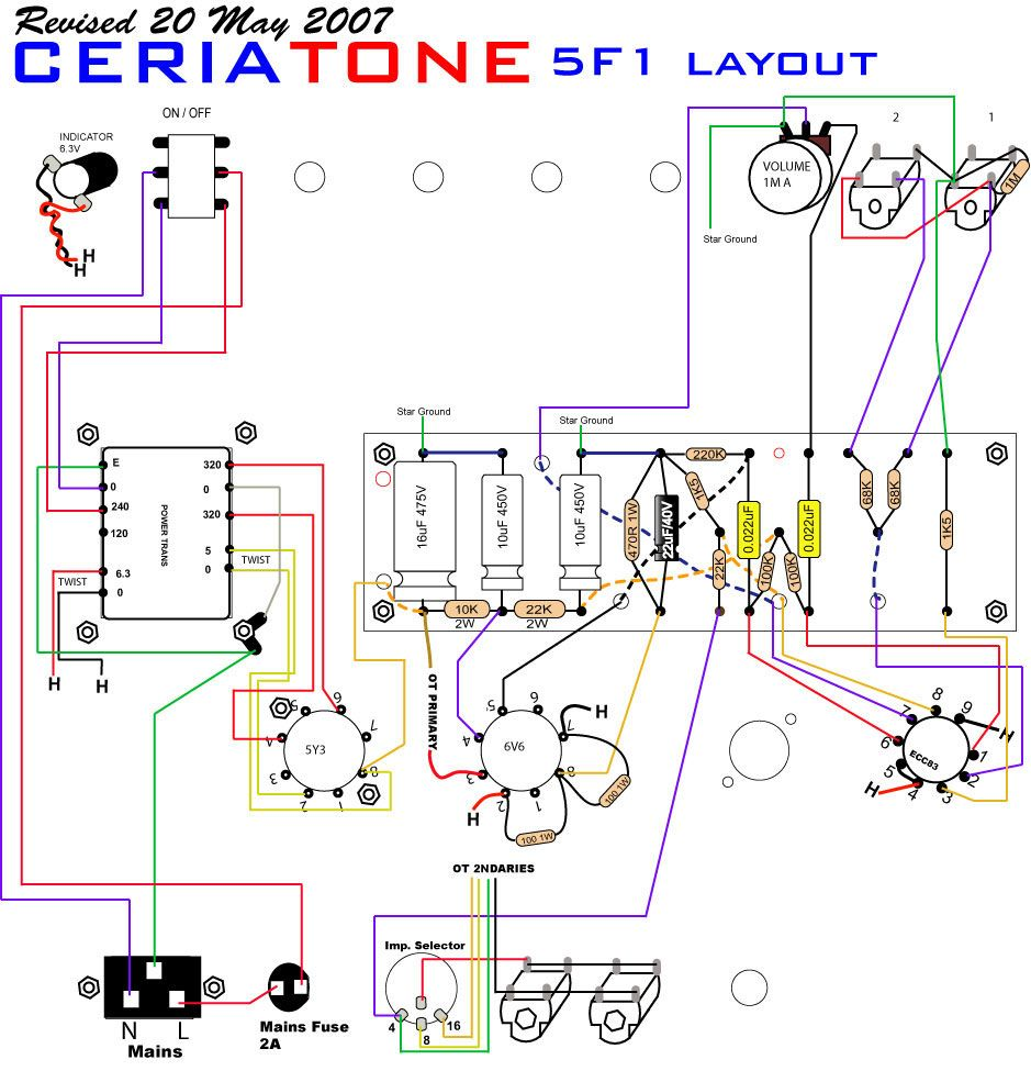 See The Complete Schematic Tweed Champ 5f1 Hi Lo Jacks Guitar Cords Diagram And W Tracking Signal Go To Www Retrevo Com 5f1champuniversal Layout200 939 975 Layouts Pinterest Rh