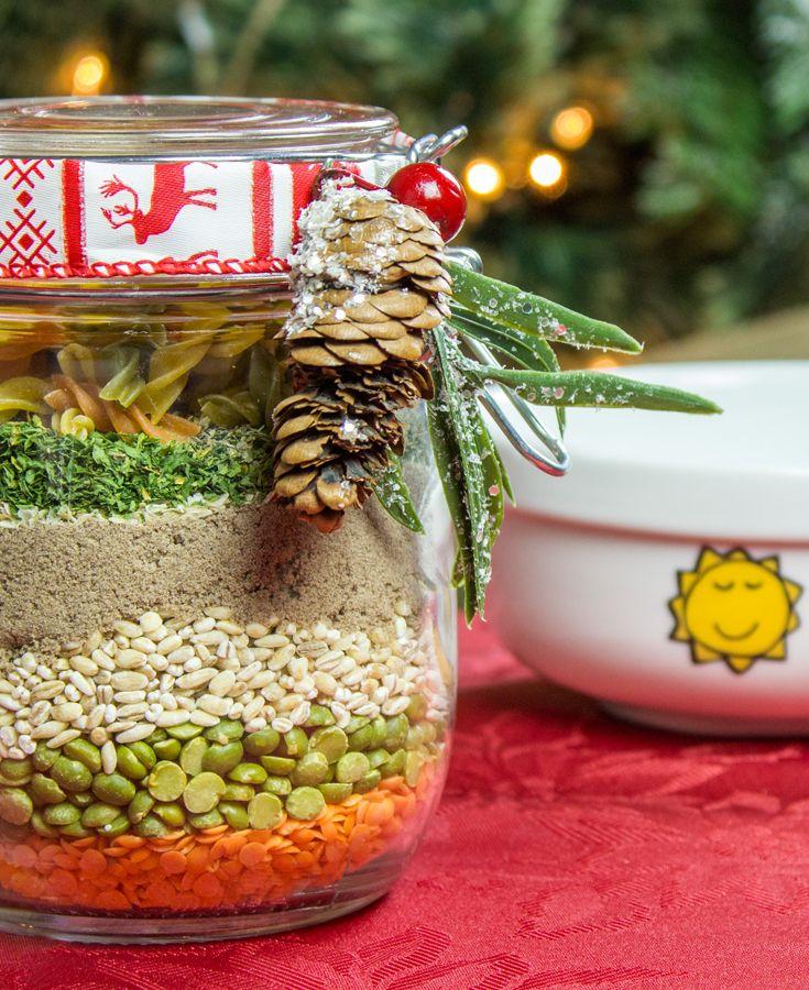 soupe en pot soup in a jar dyi perfectgiftidea magie des f tes christmas spirit. Black Bedroom Furniture Sets. Home Design Ideas