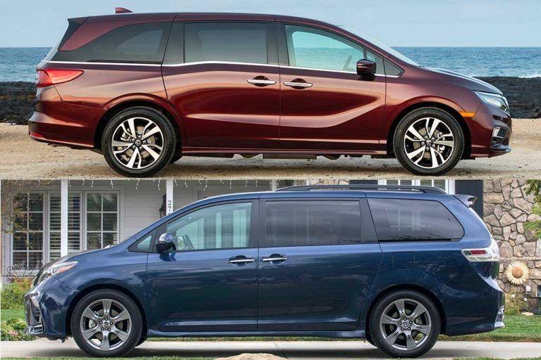 Honda Odyssey 2018 Vs 2020 Review And Price In 2020 Honda Odyssey Toyota Sienna Black Honda