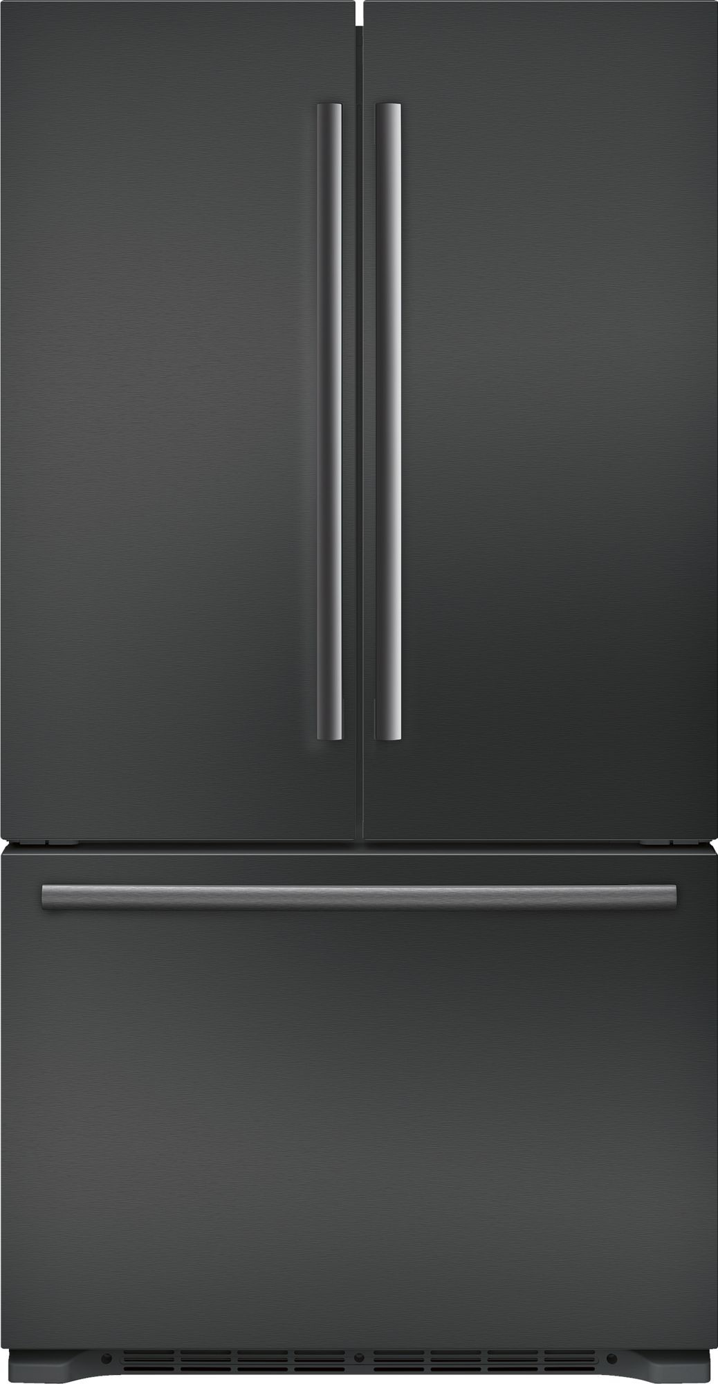 Bosch B21ct80snb 36 Inch Counter Depth French Door Refrigerator With Filtered Automatic Ice Maker Retractable Half Shelf Full Width Chiller Drawer Dual Airco Counter Depth French Door Refrigerator Countertop Remodel Automatic Ice Maker