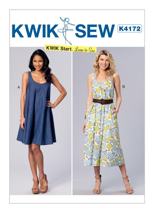 Kwik Sew Learn to Sew pattern. K4172 Misses\' Sleeveless, Scoopneck ...