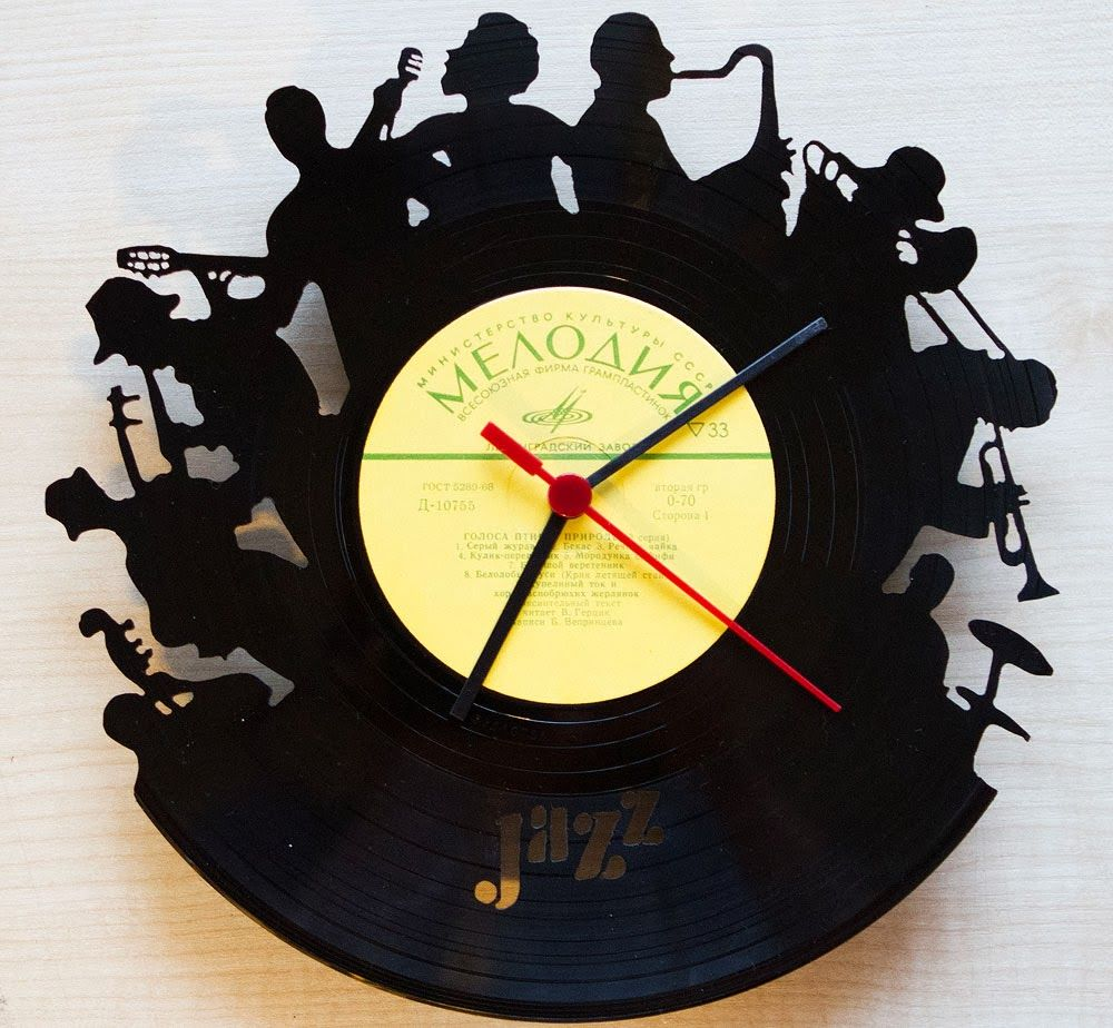 DIY from vinyl record, clock | שעונים מתקליטים | Pinterest | Clocks ...