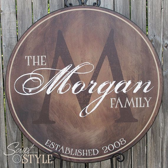 Personalized Family Name Sign Established Family Sign Last Name Sign With Established Date Monogram Wedding Sign 4 Sizes Established Family Signs Family Name Signs Name Signs