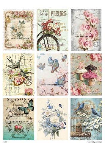 hoja Craft Etiquetas Vintage animales de granja de 2 álbumes de recortes Papel De Arroz Para Decoupage
