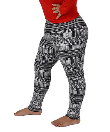 Another great find on #zulily! Gray Reindeer Fair Isle Leggings ...