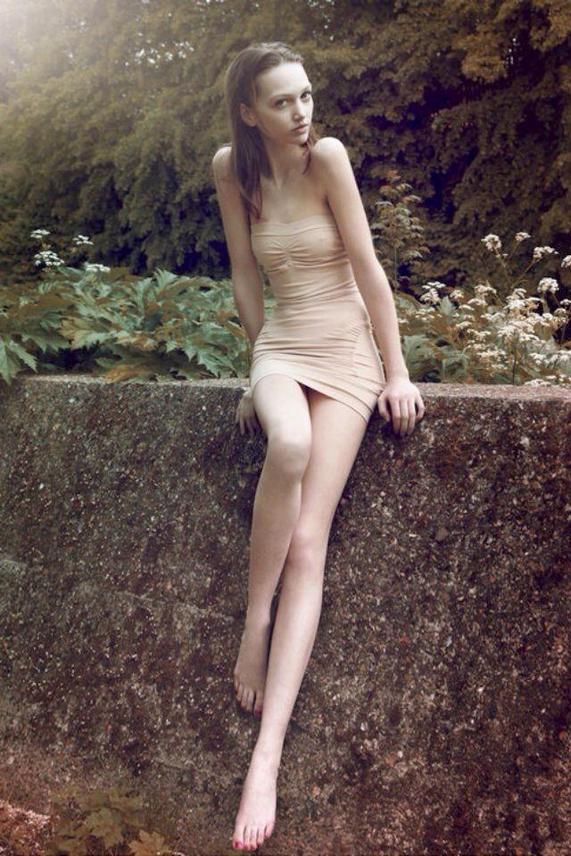 Skinny Long Legs Nude