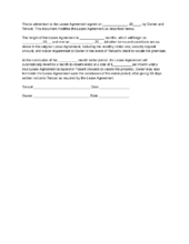Notice Of Lease Template  Landlord Tenant    Landlord
