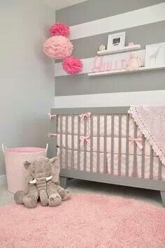 Pink Elephant Baby Room