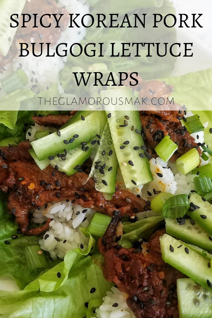 Spicy Korean Pork Bulgogi Lettuce Wraps Recipe Bulgogi