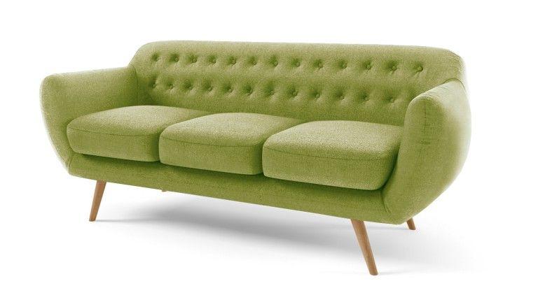 Canapé Places Vintage En Tissu Design Scandinave Ondigy Canapes - Canapé design vintage