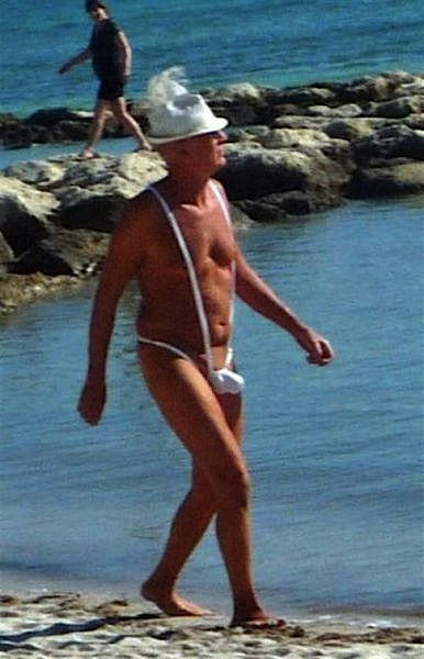 Oh, you can't be serious...who wears a fedora to the beach?!?