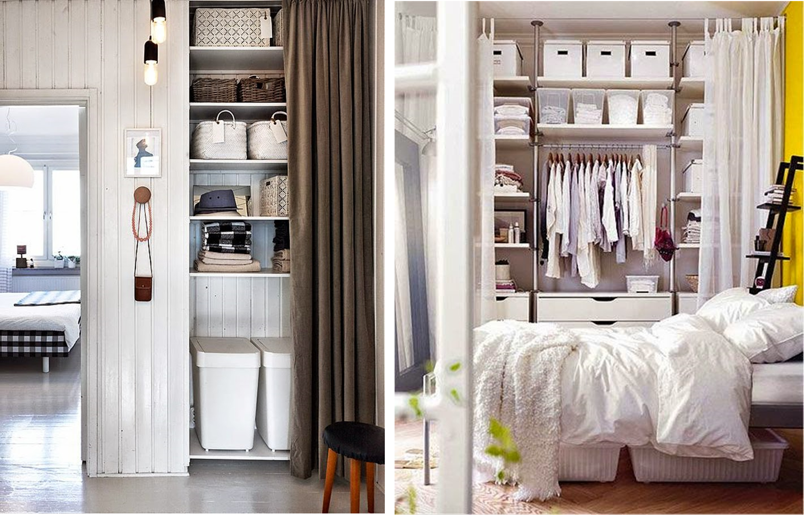 armarios lowcost con cortinas