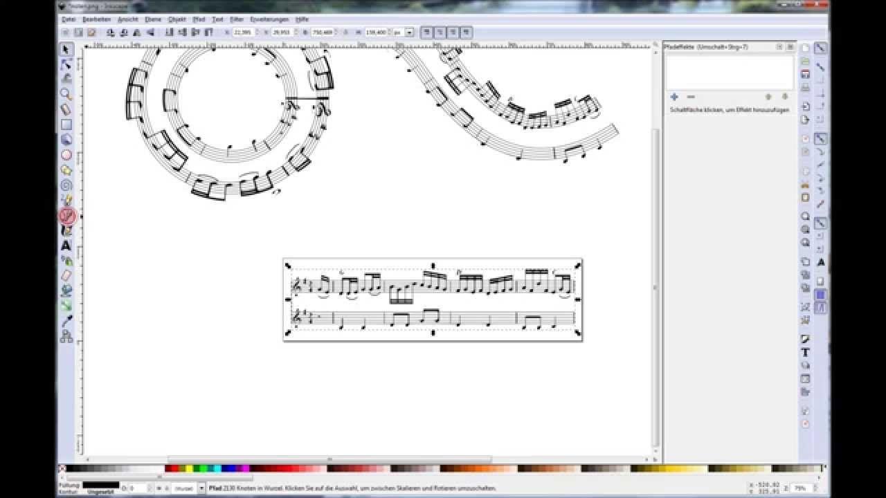 inkscape tutorial effektvolle grafiken aus musiknoten erstellen grafik mond vektor gras