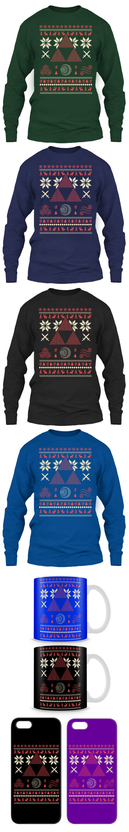 Limited Edition Ugly Christmas Sweater For Legend Of Zelda Fans ...