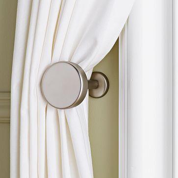Metal Pin Holdbacks Modern Curtains Simple Curtains Home Decor