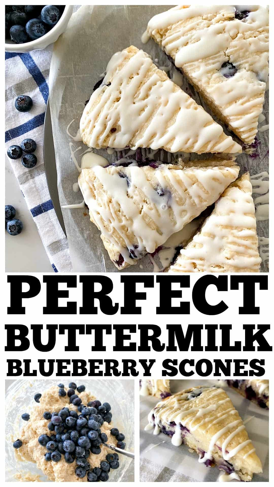 PERFECT Buttermilk Blueberry Scones recipe! You won\'t ever need another recipe! #scones #sconerecipe #buttermilkscones #blueberryscones