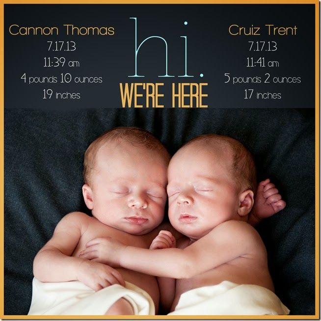 Newborn Pictures: Twins