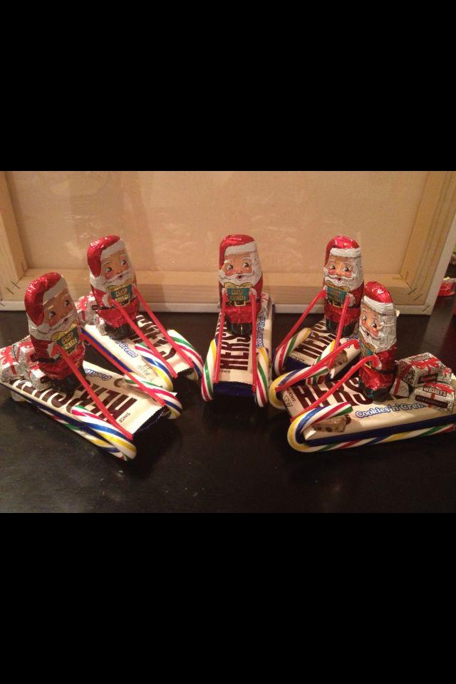 30+ Best DIY Christmas Gifts for Kids 2017 Chocolate santa