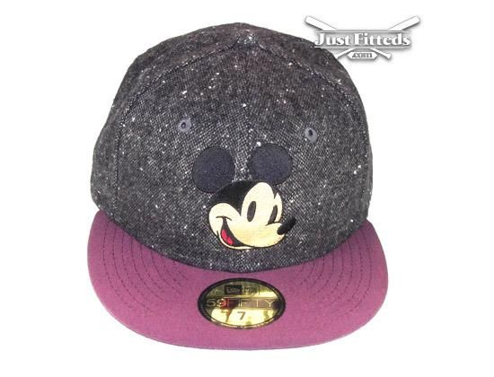 9f8e8bfdd0d ... mickey tweed maroon 59fifty fitted cap by disney x new era ...