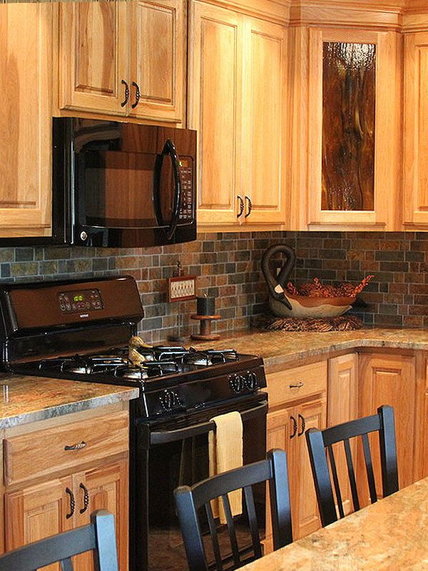 Granite Countertops And Tile Backsplash Ideas   Eclectic   Kitchen    Indianapolis   Supreme Surface, Inc .SLATE BACKSPLASH WITH GRANITE  COUNTERTOP ...