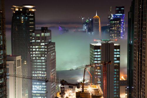 Fog envelops Qatar