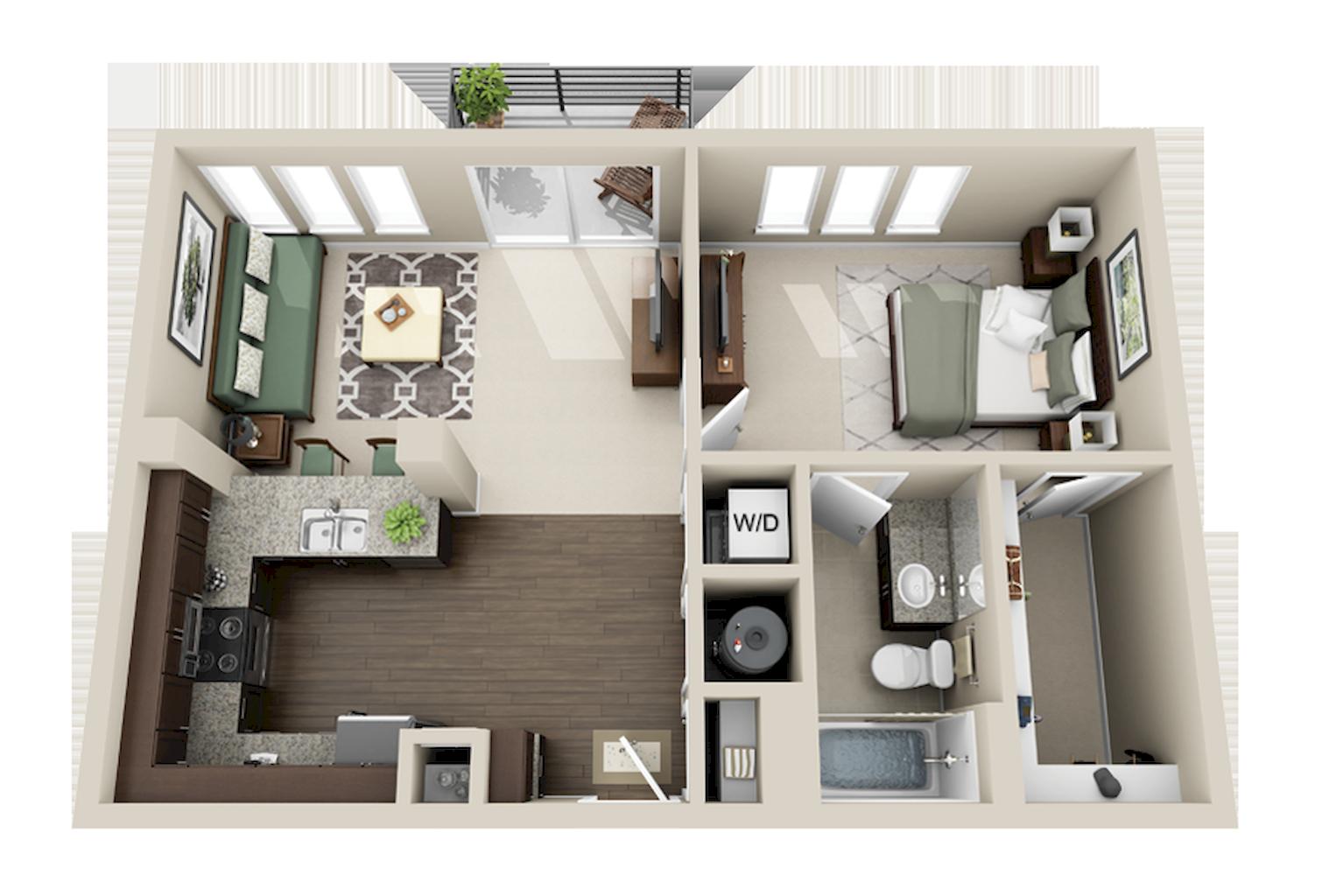 100 Small Studio Apartment Layout Design Ideas Denah Rumah Rumah Dan Desain Rumah