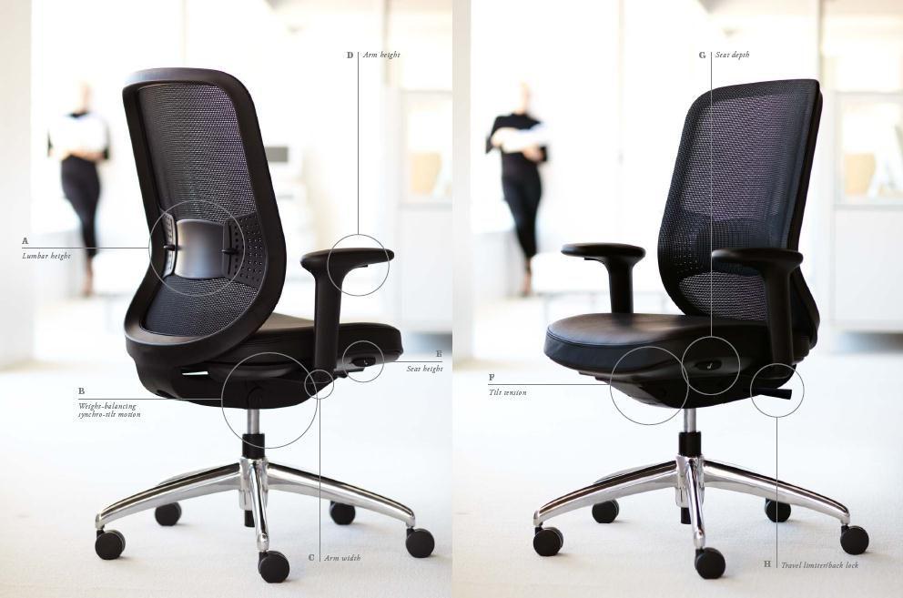 Teknion chair adjustment