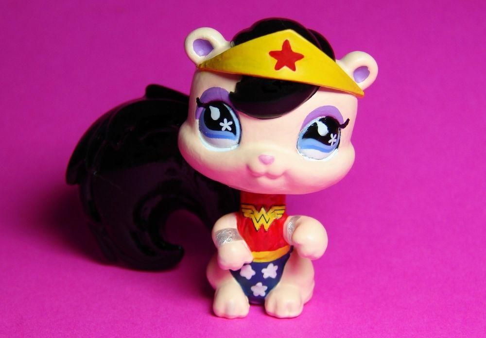 Littlest Pet Shop Wonder Woman Girl Super Hero Custom -2073