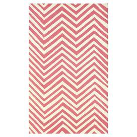 Darby Rug in Pink & Ivory