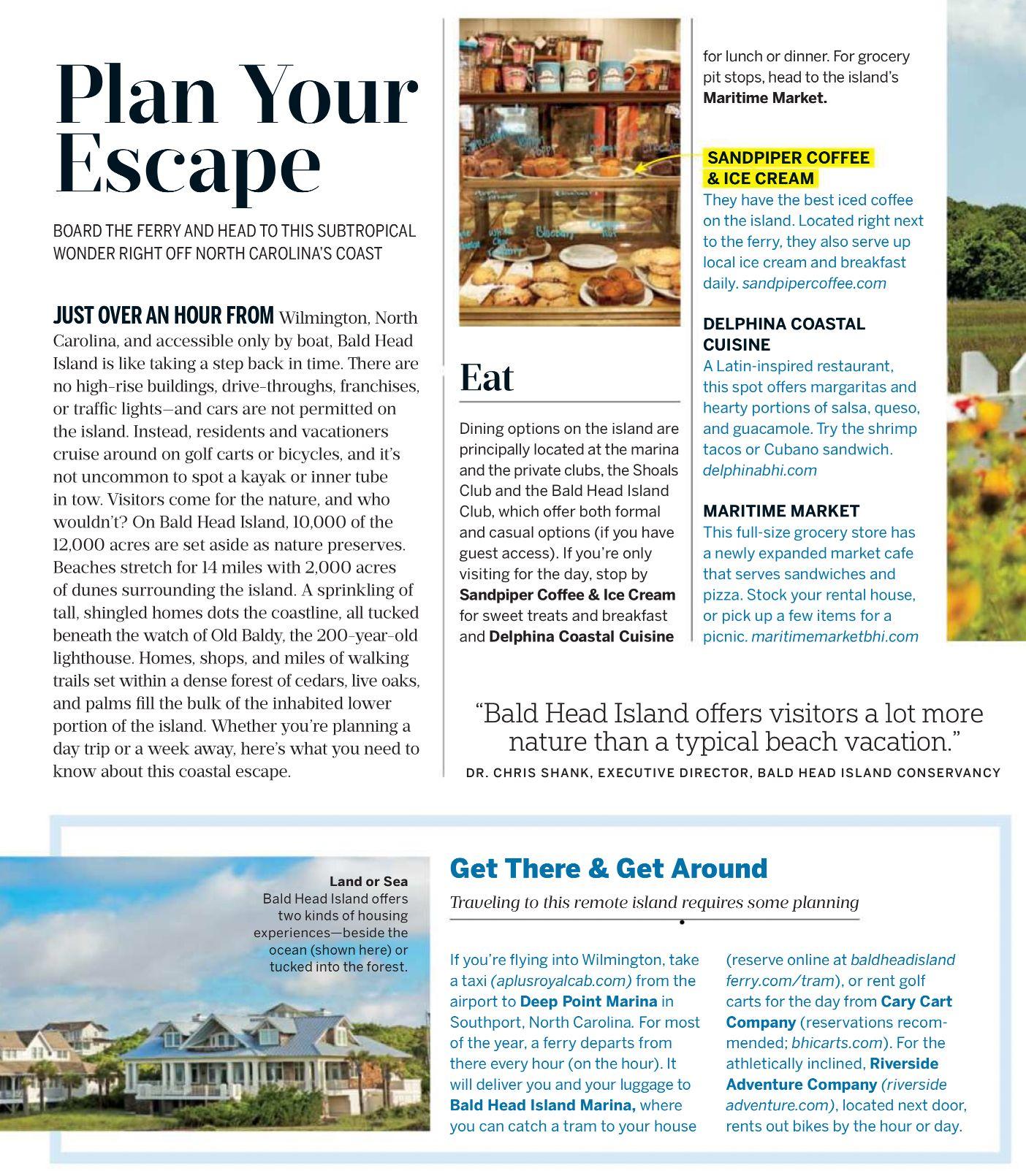 Bald Head Island North Carolina Page 1 Of 2 Grocery Planning Island Bald Head Island