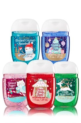 Holiday Traditions 5 Pack Pocketbac Sanitizers Bath Body