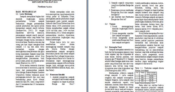 Contoh Makalah Karya Ilmiah Sampah Organik Download File Format