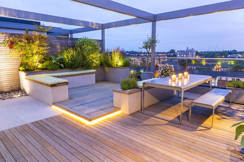 Roof terrace ideas interiors in terrace design roof