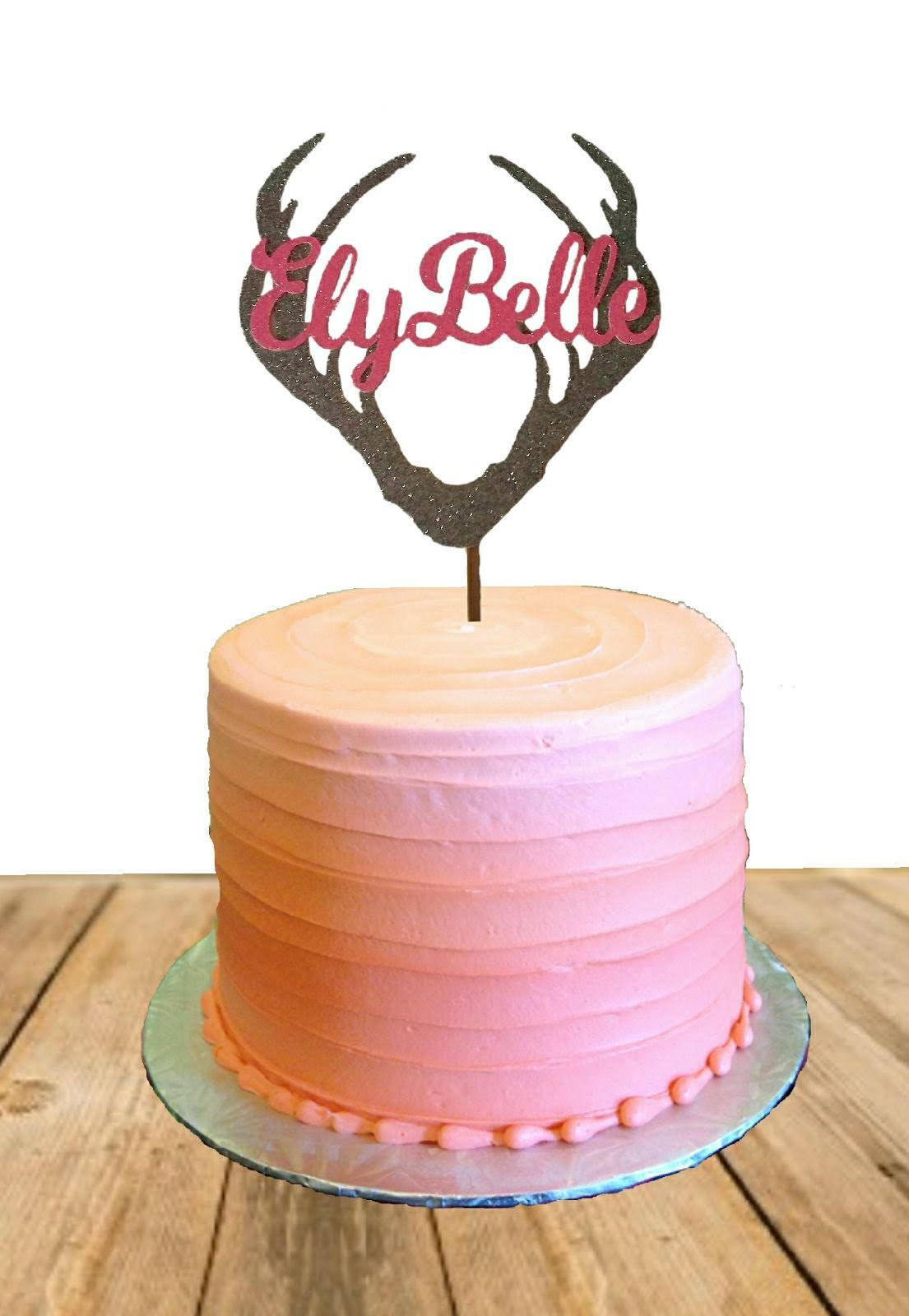 Excited To Share The Latest Addition My Etsy Shop Antler Personalized Birthday Cake