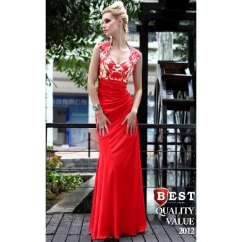 643 3181 Thickboxhot Red Modest Long Winter Formal Dresses On Sale