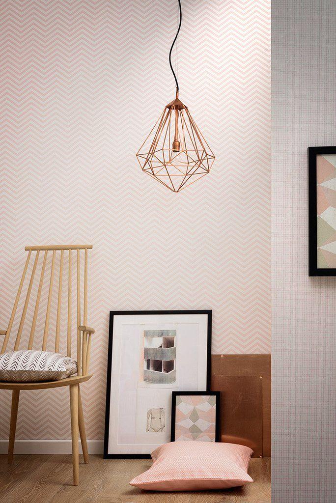 AS Creation Wallpaper Scandi Chevron Pink 341392