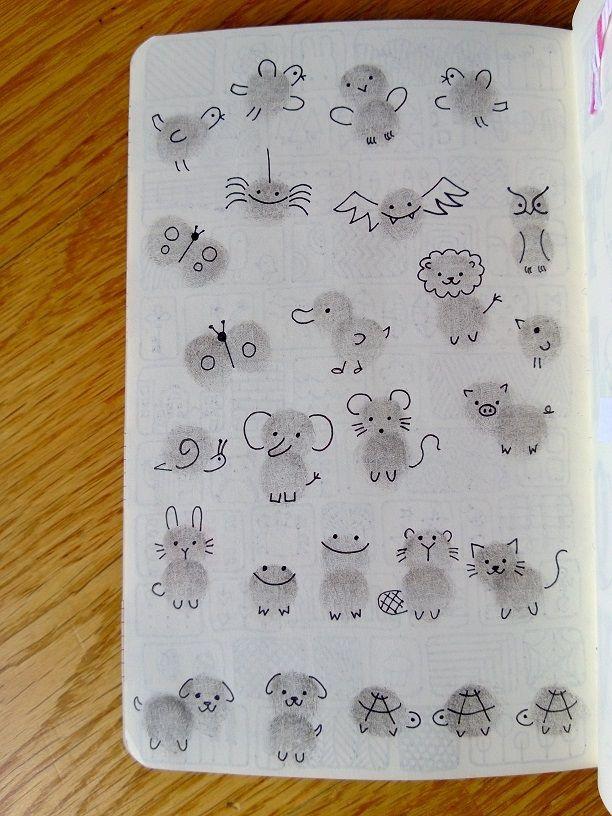 Thumb print animals … | Pinteres…