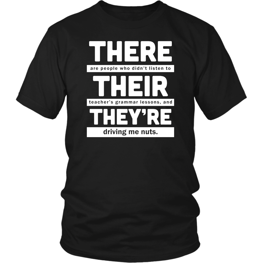 There Their And They Re T Shirt