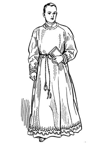 Coloring Page Priest Img 12891 Catholic Coloring Priest Vintage Church