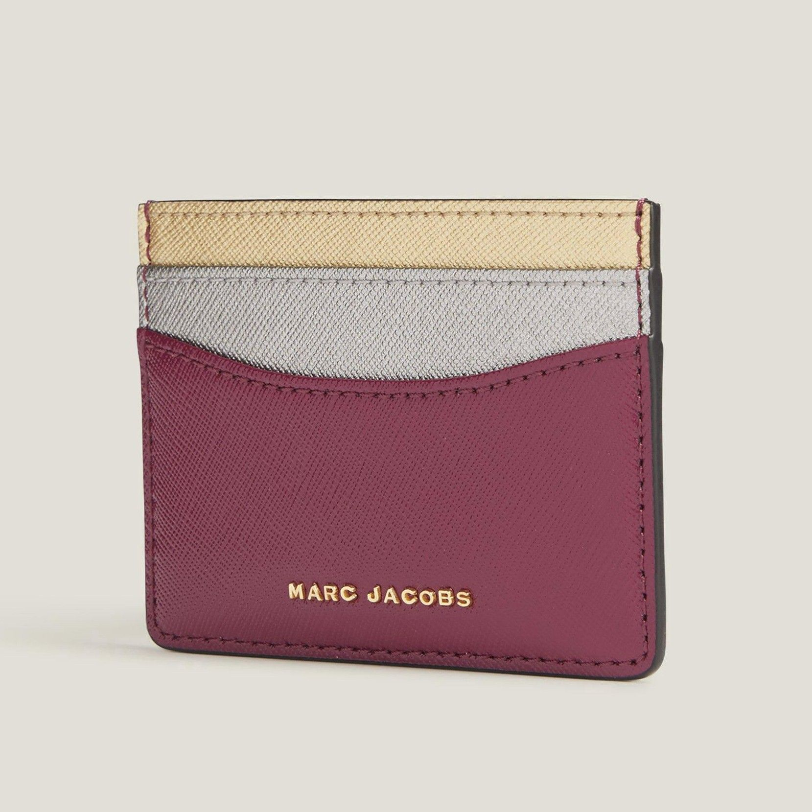 MARC JACOBS Saffiano Tricolor Card Case. #marcjacobs #bags ...