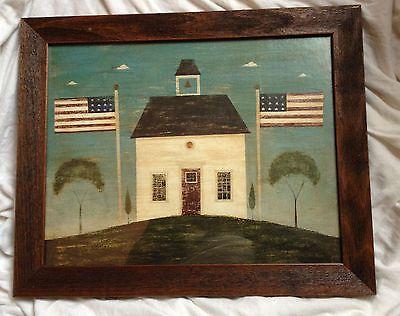 warren kimble print framed country life brandon white school house ...