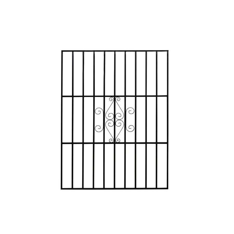 Gatehouse 36 In X 48 In Black Magnum Window Security Bar M36x48 Blk In 2020 Window Security Bars Window Security Windows