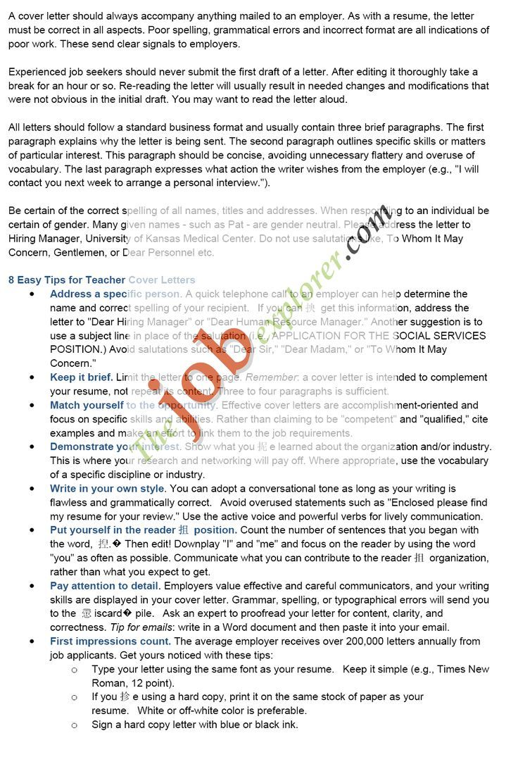 Best Teacher Cover Letters Images  Sample Letter  Home