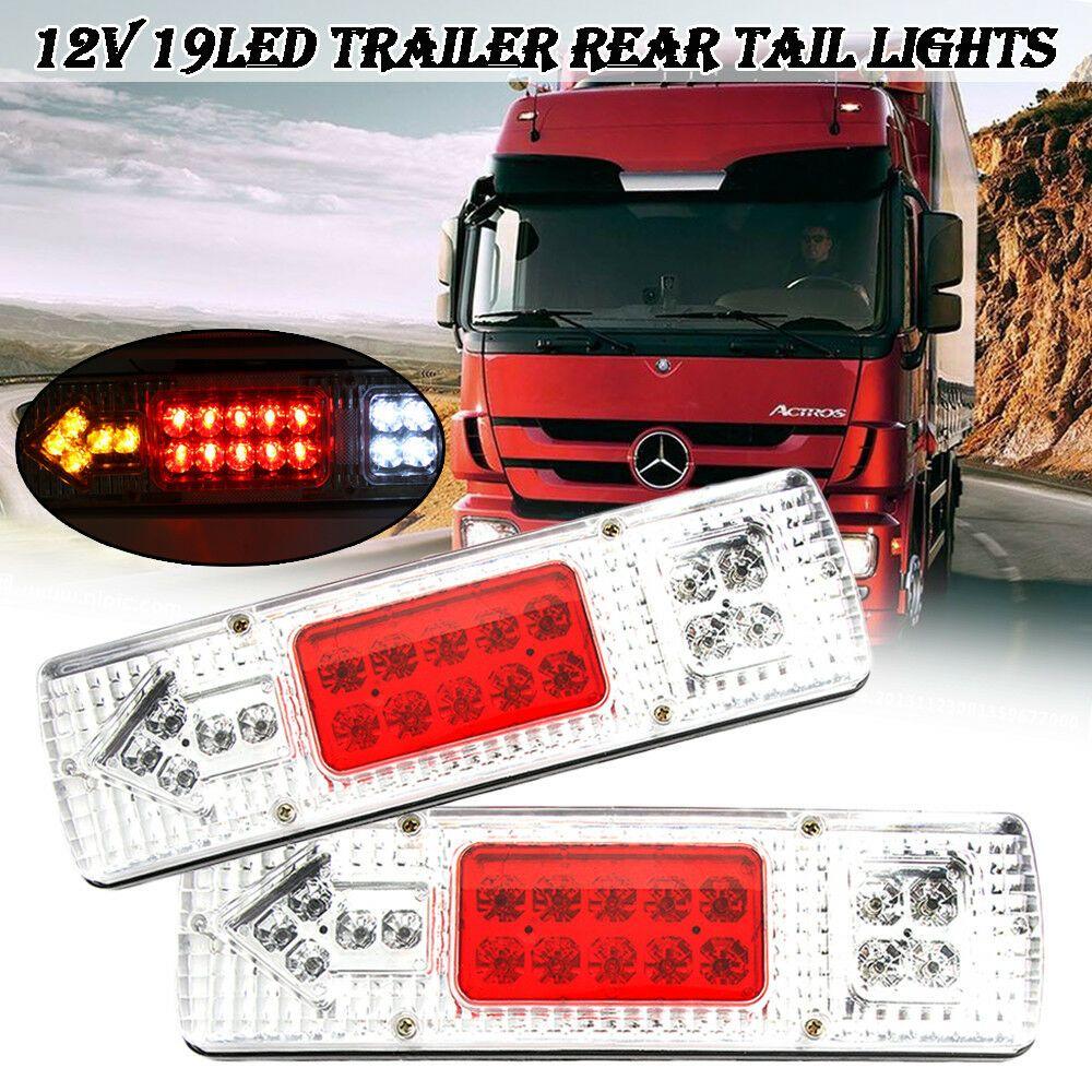 2 X Trailer Rear Tail Lights Number Of Led 19 Led Tail Light Led Trailer