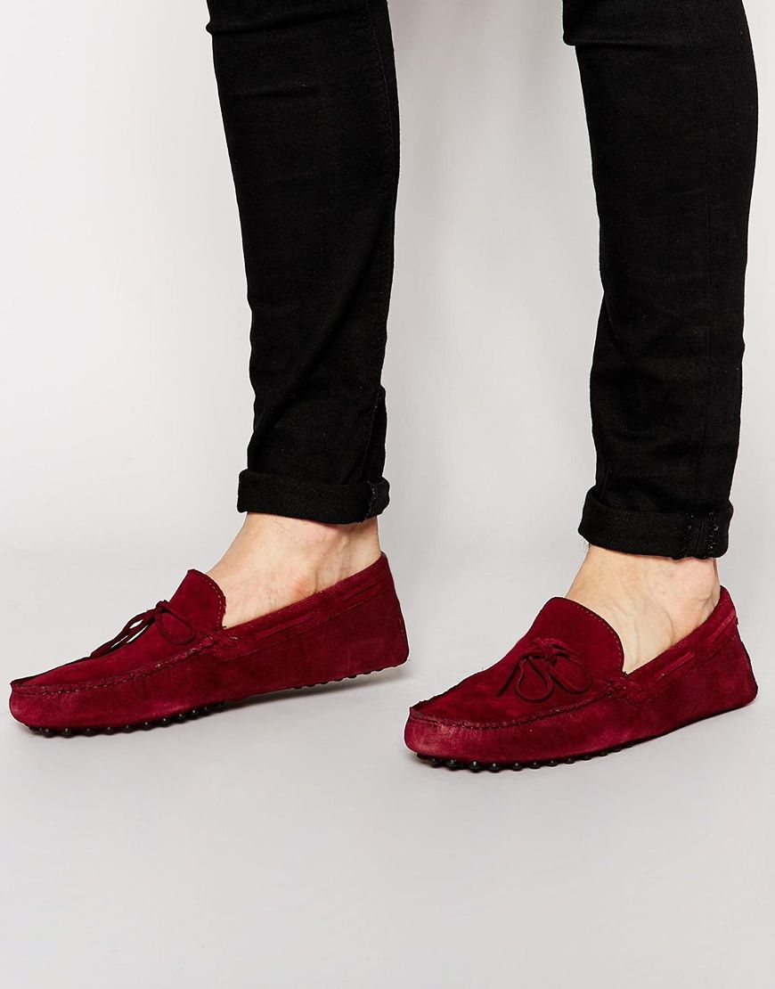 ASOS Driving Shoes in Suede