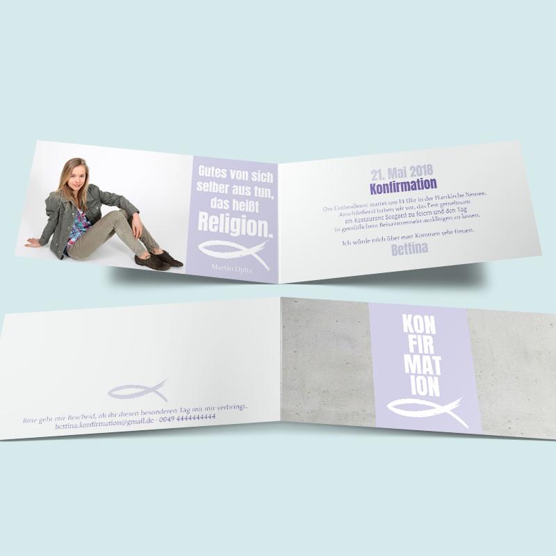 Konfirmationskarten: Fest Im Glauben. Moderne Einladungen Zur Konfirmation  Und Firmung Hier Günstig Bestellen