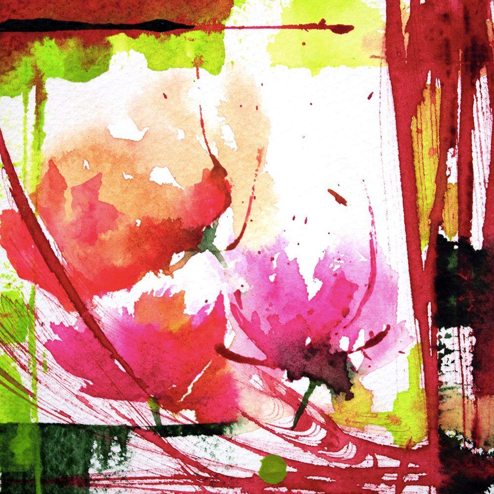 Petit instant N°148 - Peinture,  10x10 cm ©2014 par Véronique Piaser-Moyen -                                            Peinture contemporaine, Fleur, aquarelle, watercolor, piaser, piaser-moyen, fleurs, fleur, flower, flowers